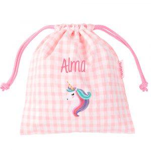 bolsa merienda unicornio