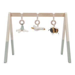gimnasio madera 3 juguetes colgantes